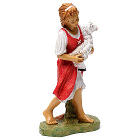 Donna con pecora in braccio 30 cm s4