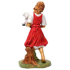 Donna con pecora in braccio 30 cm s5