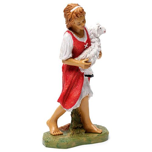 Donna con pecora in braccio 30 cm 4