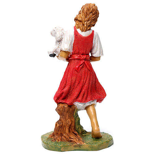 Donna con pecora in braccio 30 cm 5