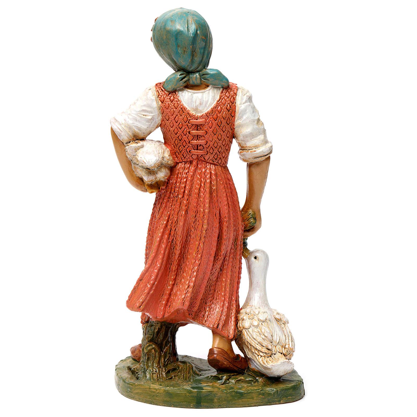 Donna con due anatre 30 cm 3