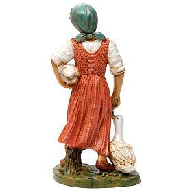 Donna con due anatre 30 cm s5