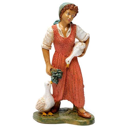 Donna con due anatre 30 cm 1
