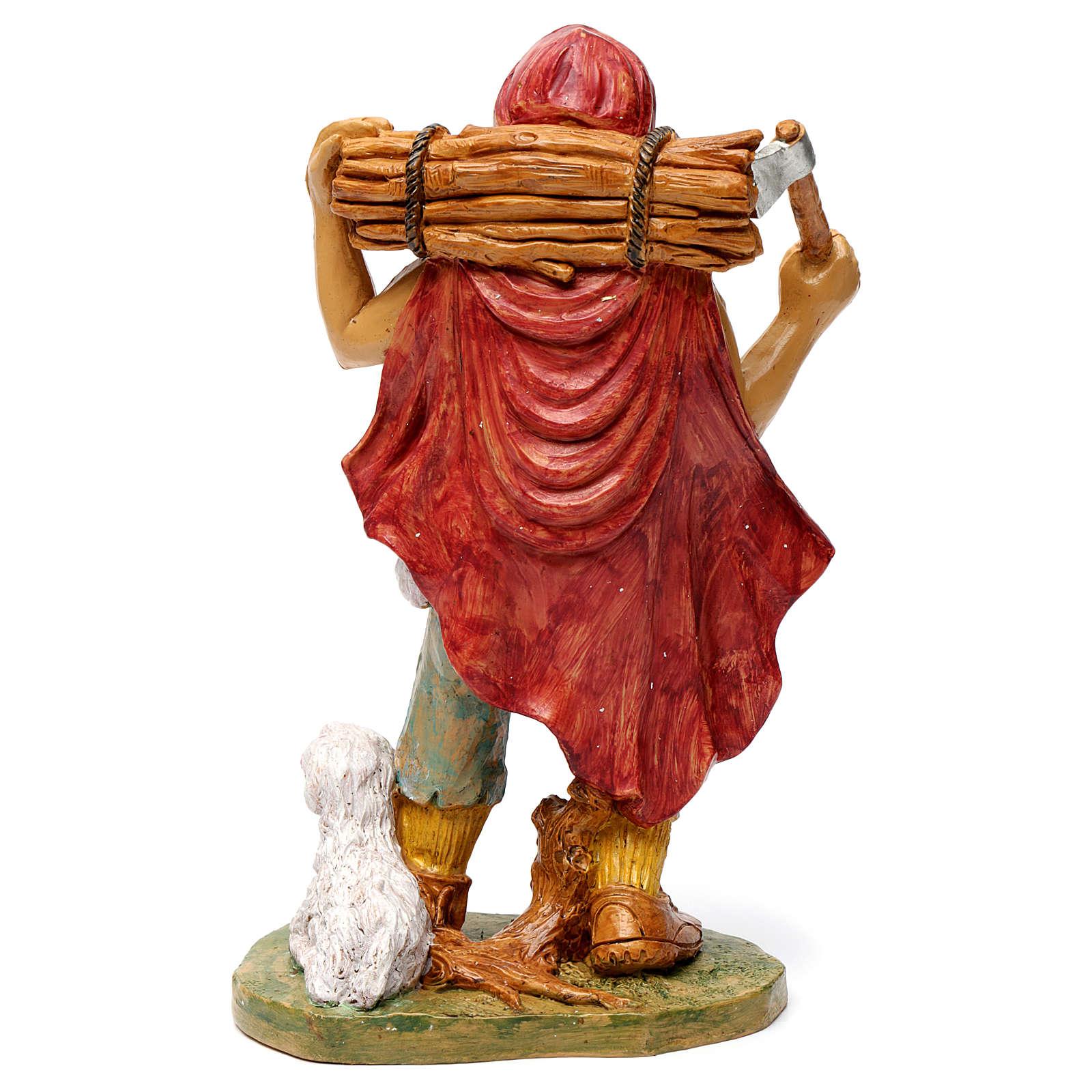 Pastore con legna in spalla 30 cm 3