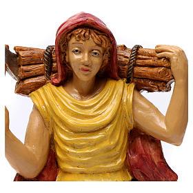 Pastore con legna in spalla 30 cm s2