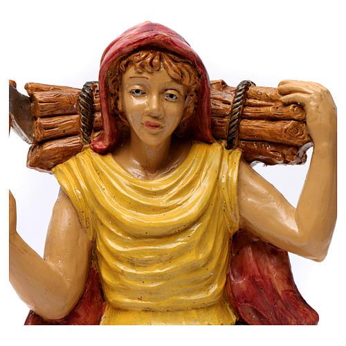 Pastore con legna in spalla 30 cm 2