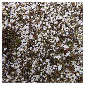 Thin gravel with moss for Nativity Scene 160 gr s1