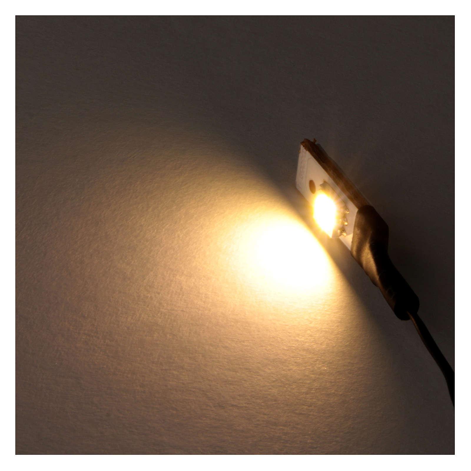 Led blanc plat simple bas voltage 4