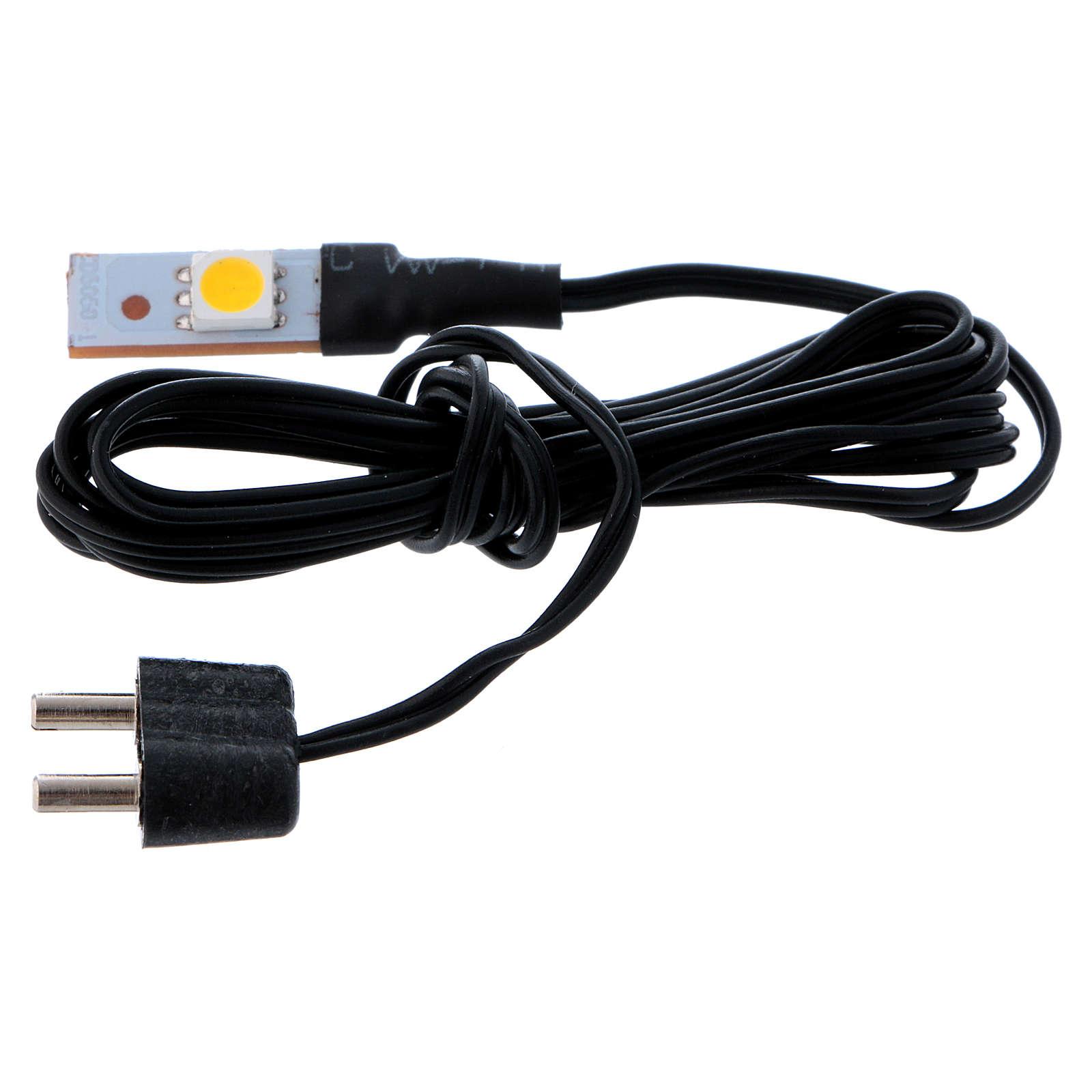 White LED single flat low voltage 4