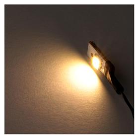 White LED single flat low voltage s2