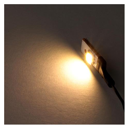 White LED single flat low voltage 2