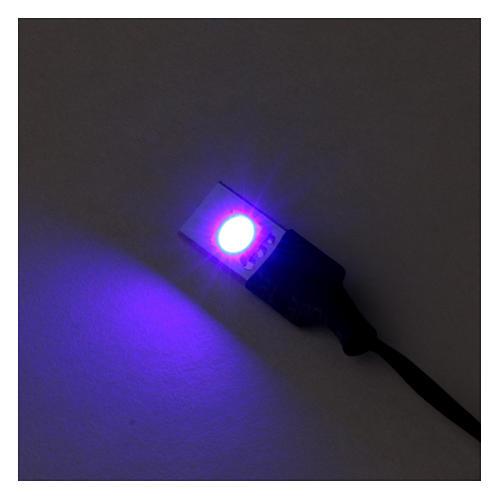 LED azul plano individual de baixa tensão 2