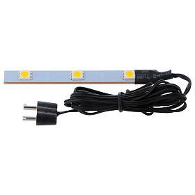 Triple flat low-voltage white led light s1