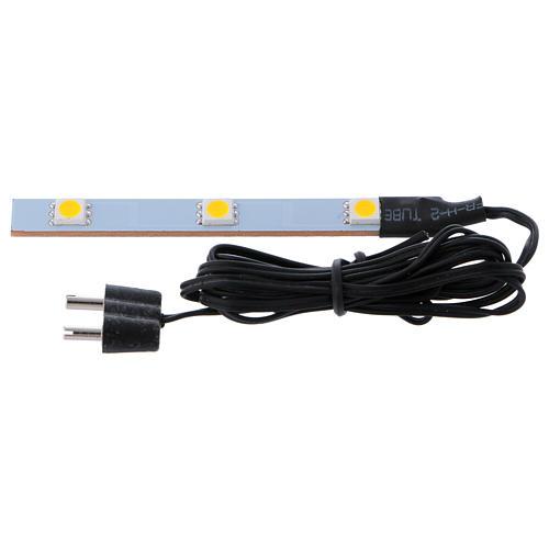 Triple flat low-voltage white led light 1