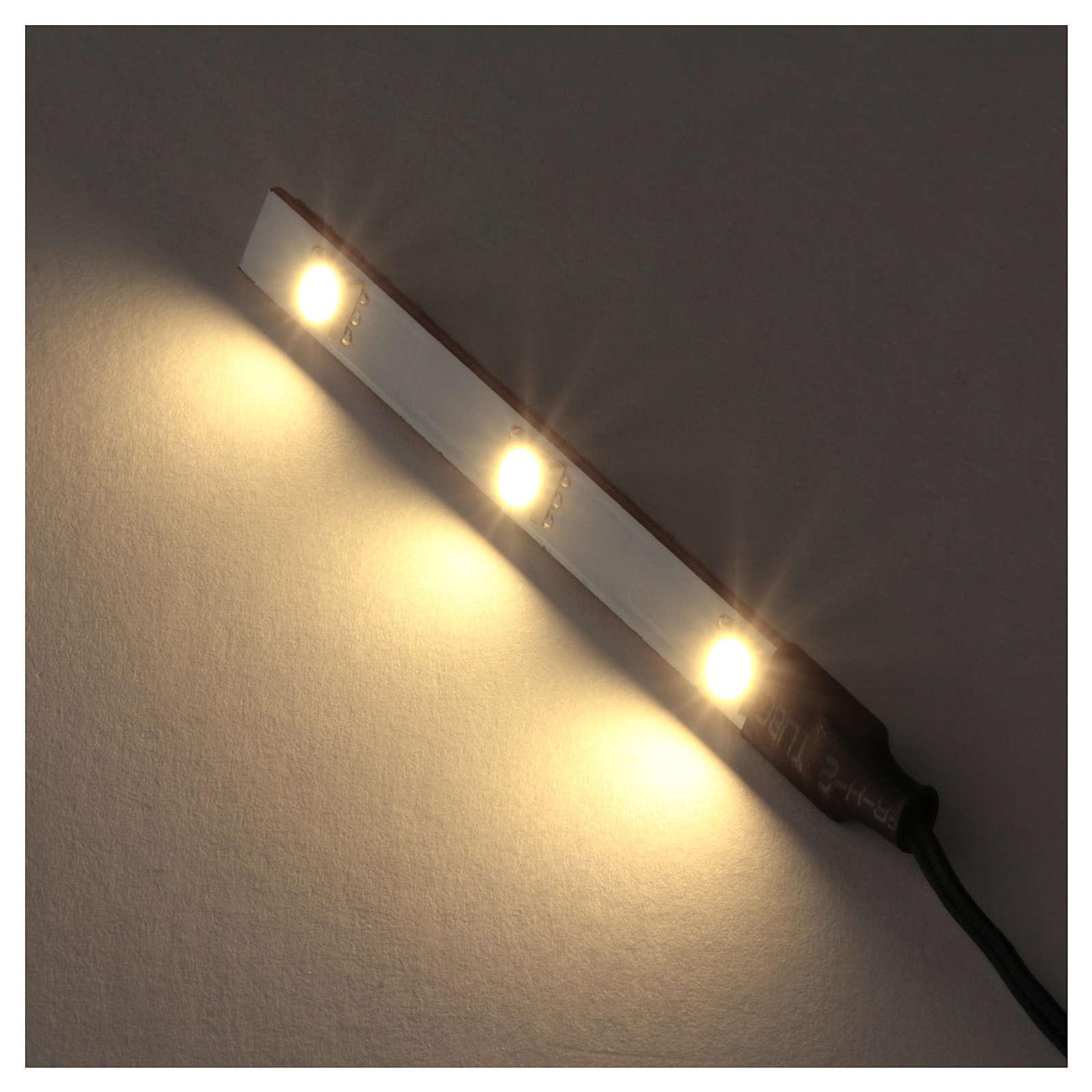 White LED flat triple low voltage 4