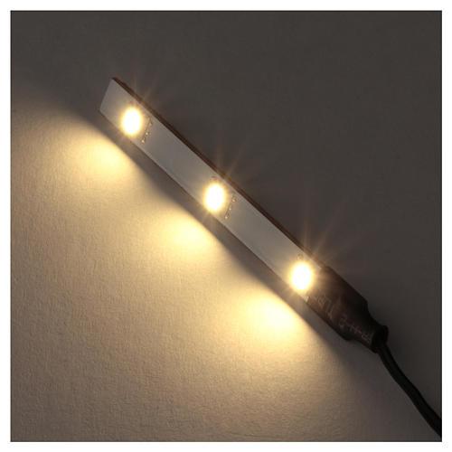 White LED flat triple low voltage 2