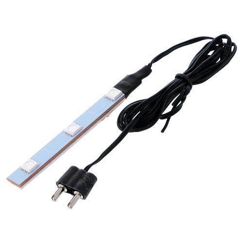 Triple flat low-voltage blue led light 3