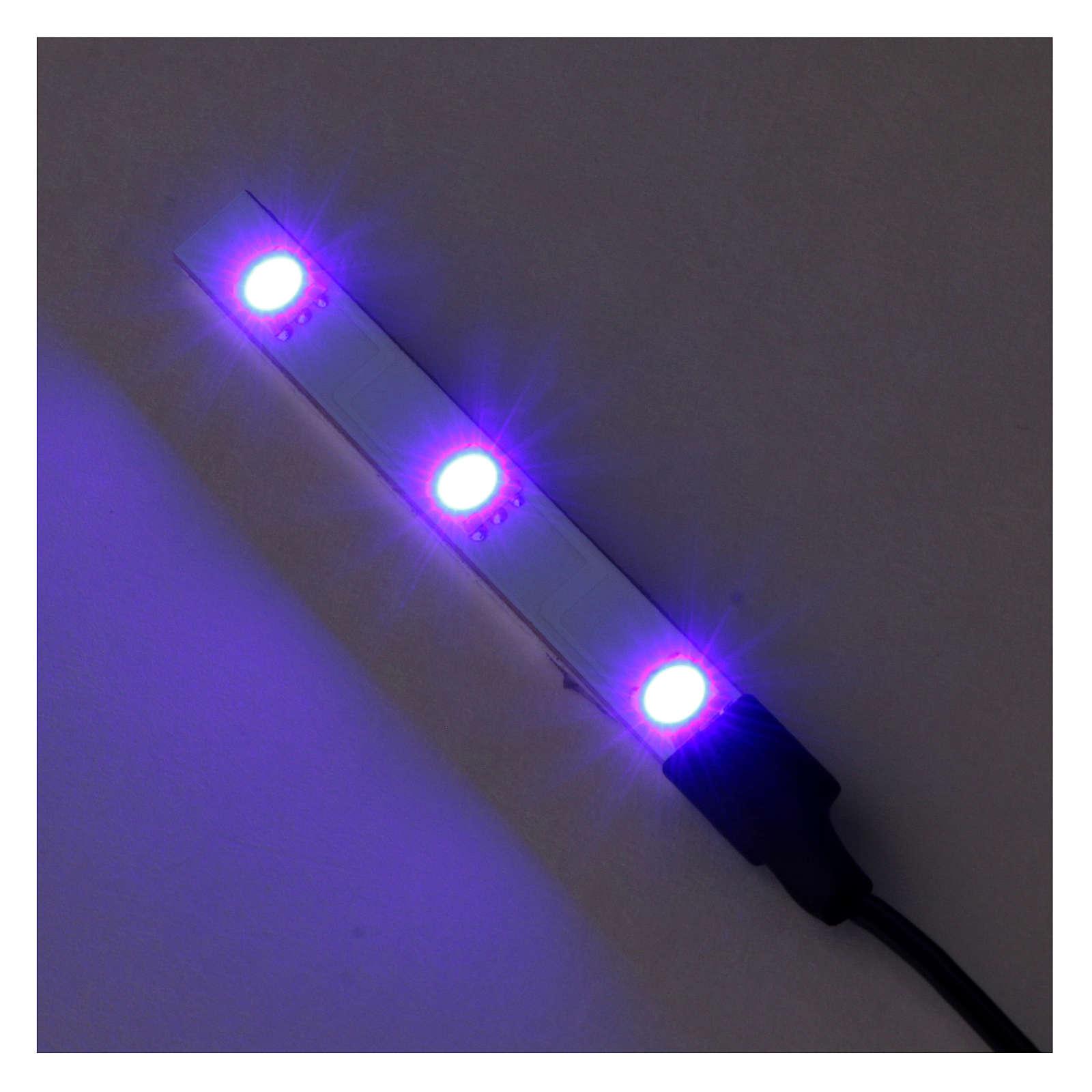 Flat Blue LED triple light low voltage 4