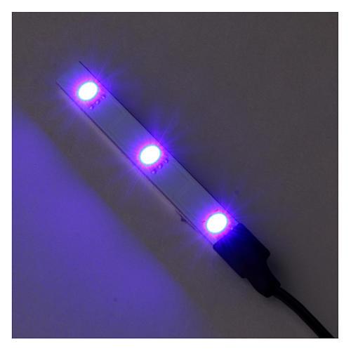 Flat Blue LED triple light low voltage 2