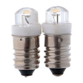 Luzes e Lamparinas para o Presépio: LED lâmpada branca de baixa tensão conjunto 2 peças