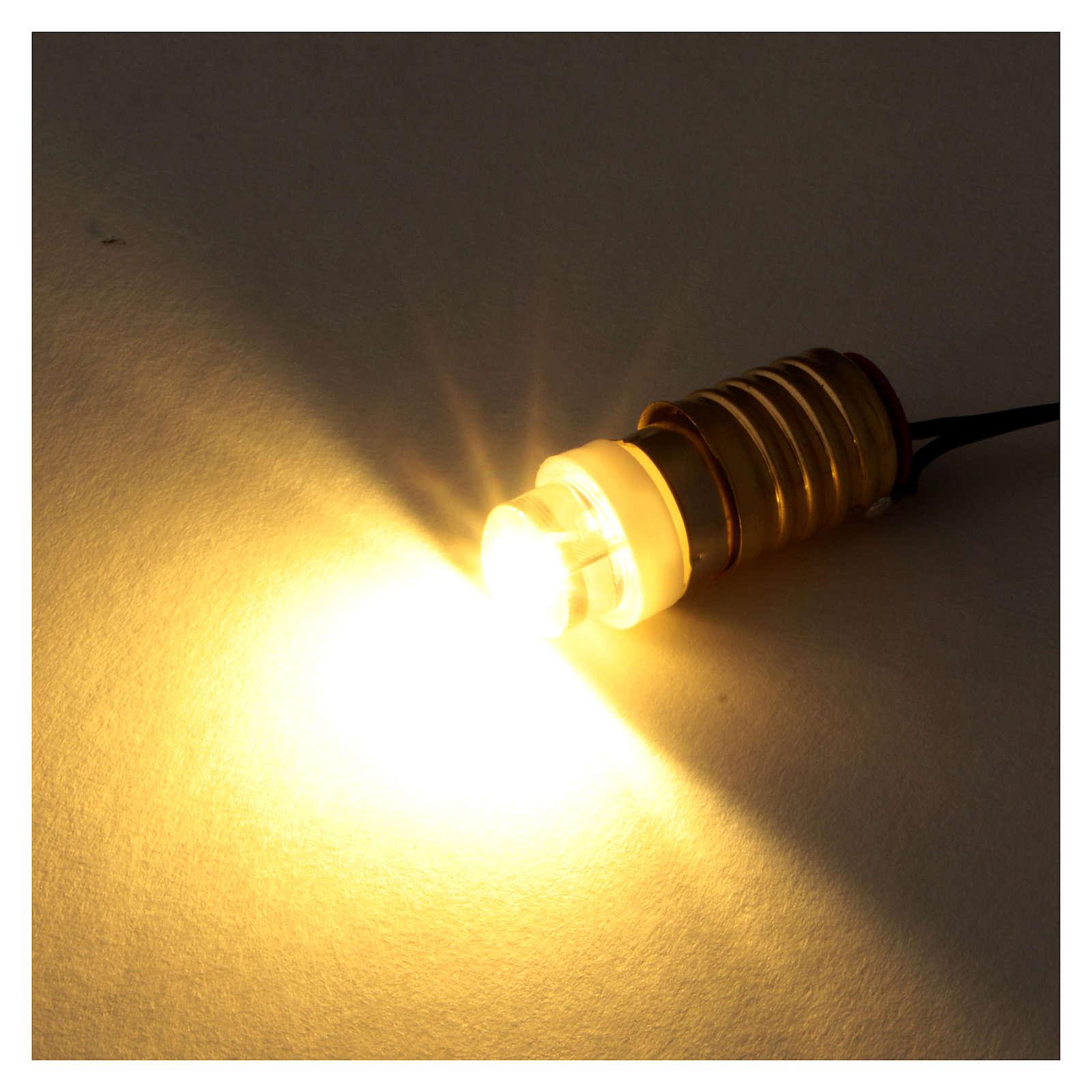 Gelbe Led Glühbirne mit Niederspannung Kabel 4