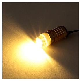 Led ampoule blanche avec câblage à bas voltage s2