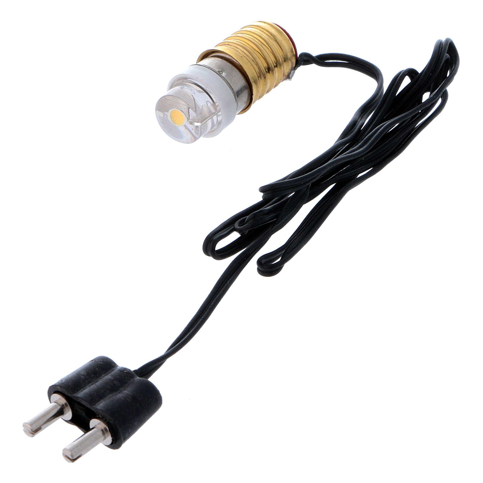 Led lampadina bianca con cablaggio a basso voltaggio 4