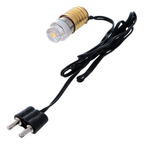 Led lampadina bianca con cablaggio a basso voltaggio 3