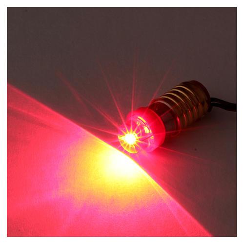 Rote Led Glühbirne mit Niederspannung Kabel 2