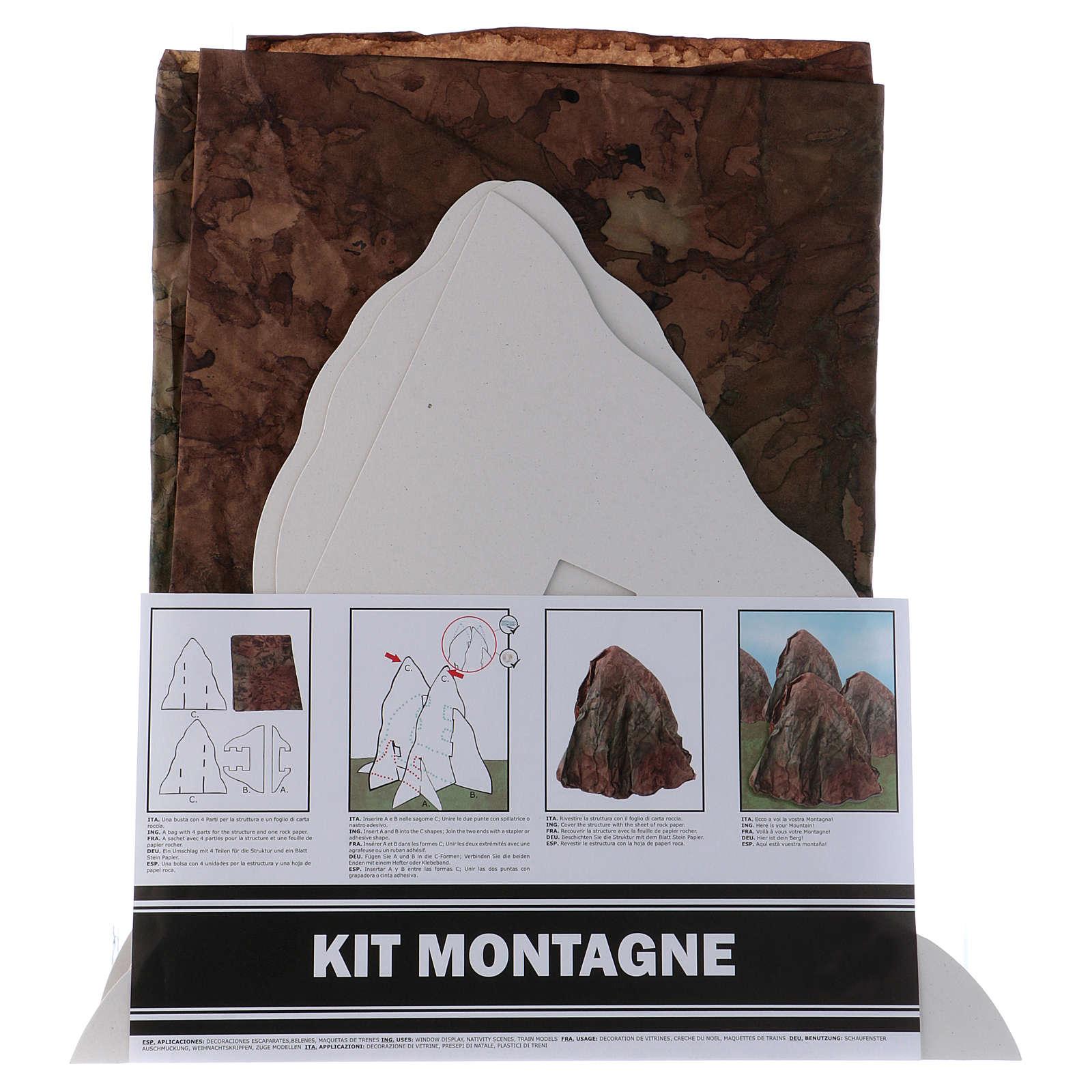 Set montagne en relief à monter 95x65 cm (feuille A1) montagne h 35 cm 4