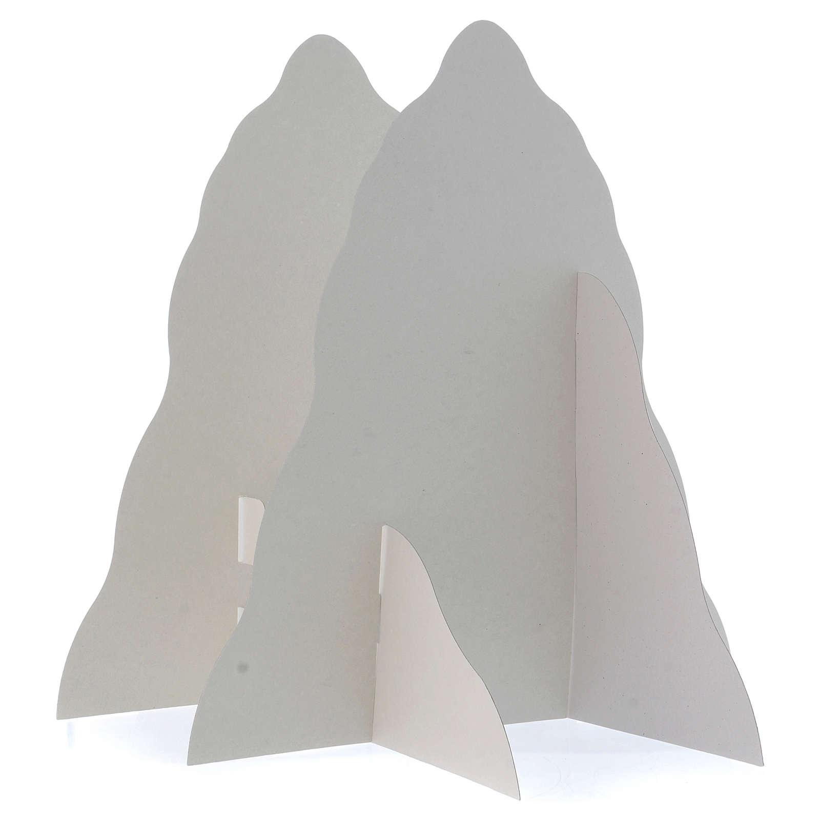 Set montagna in rilievo da montare 95x65 (foglio A1) h montagna 35 cm 4