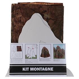 Paisagens, Cenários de Papel e Painéis para Presépio: Conjunto montanha em relevo para montar 95x65 cm altura montanha 35 cm