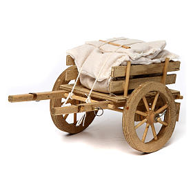 Miniature tools: Cart with sacks 10x15x10 cm