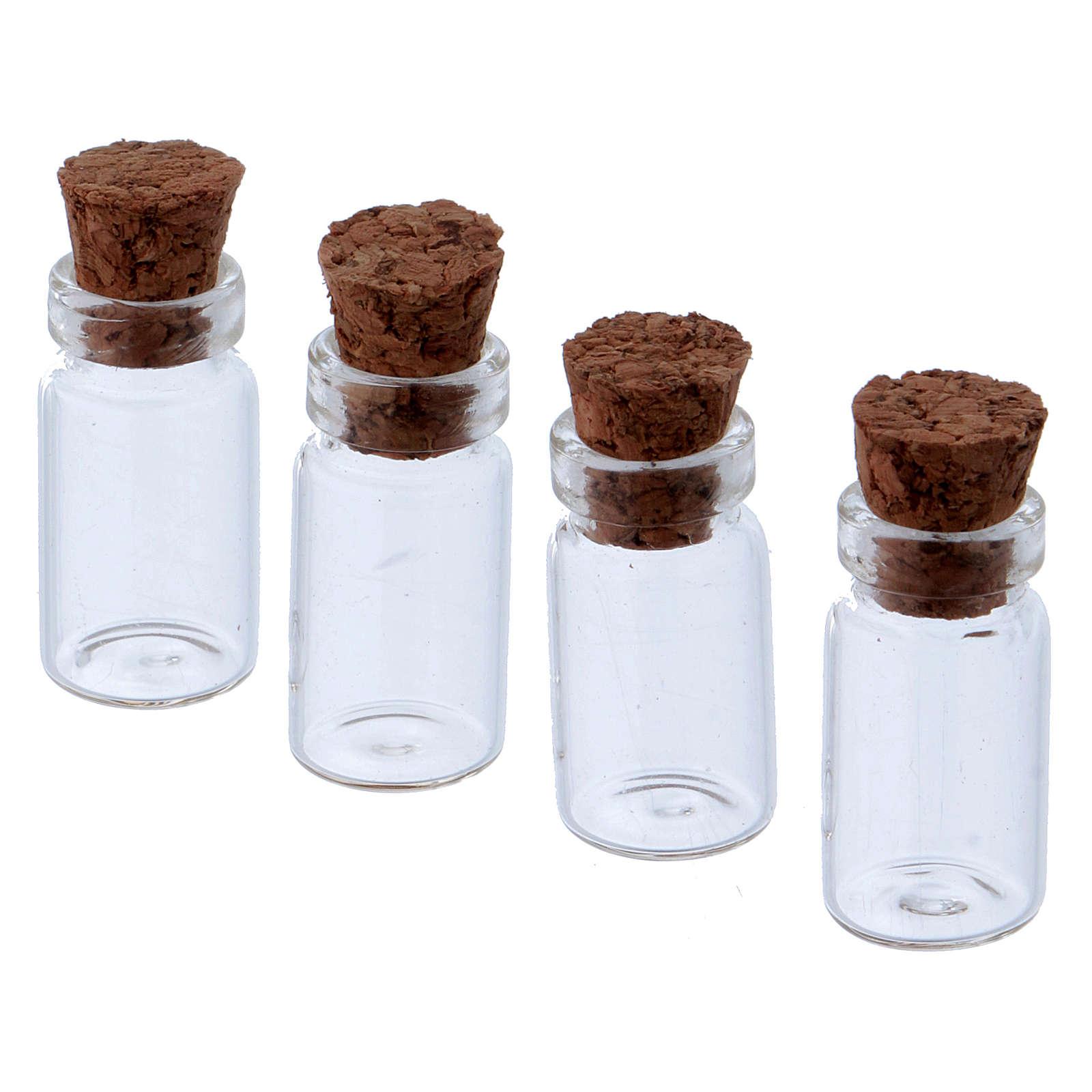 Pots en verre transparent h 3 cm 4