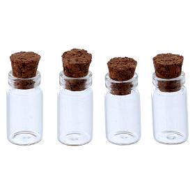 Pots en verre transparent h 3 cm s1