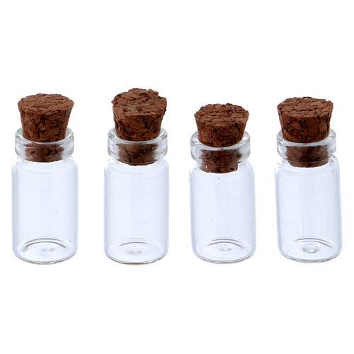 Pots en verre transparent h 3 cm 1