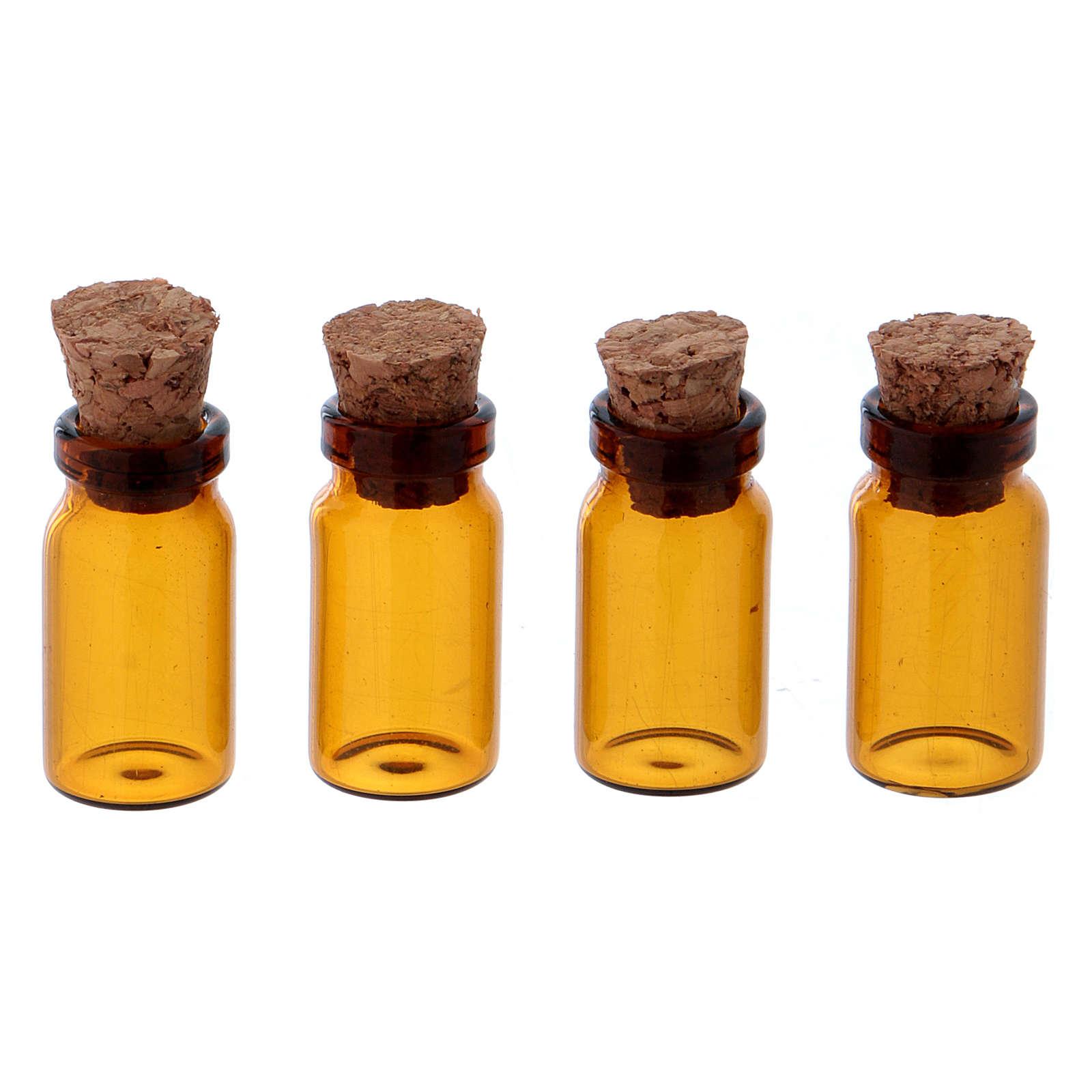 Jarrones de vidrio marrón h 3 cm 4
