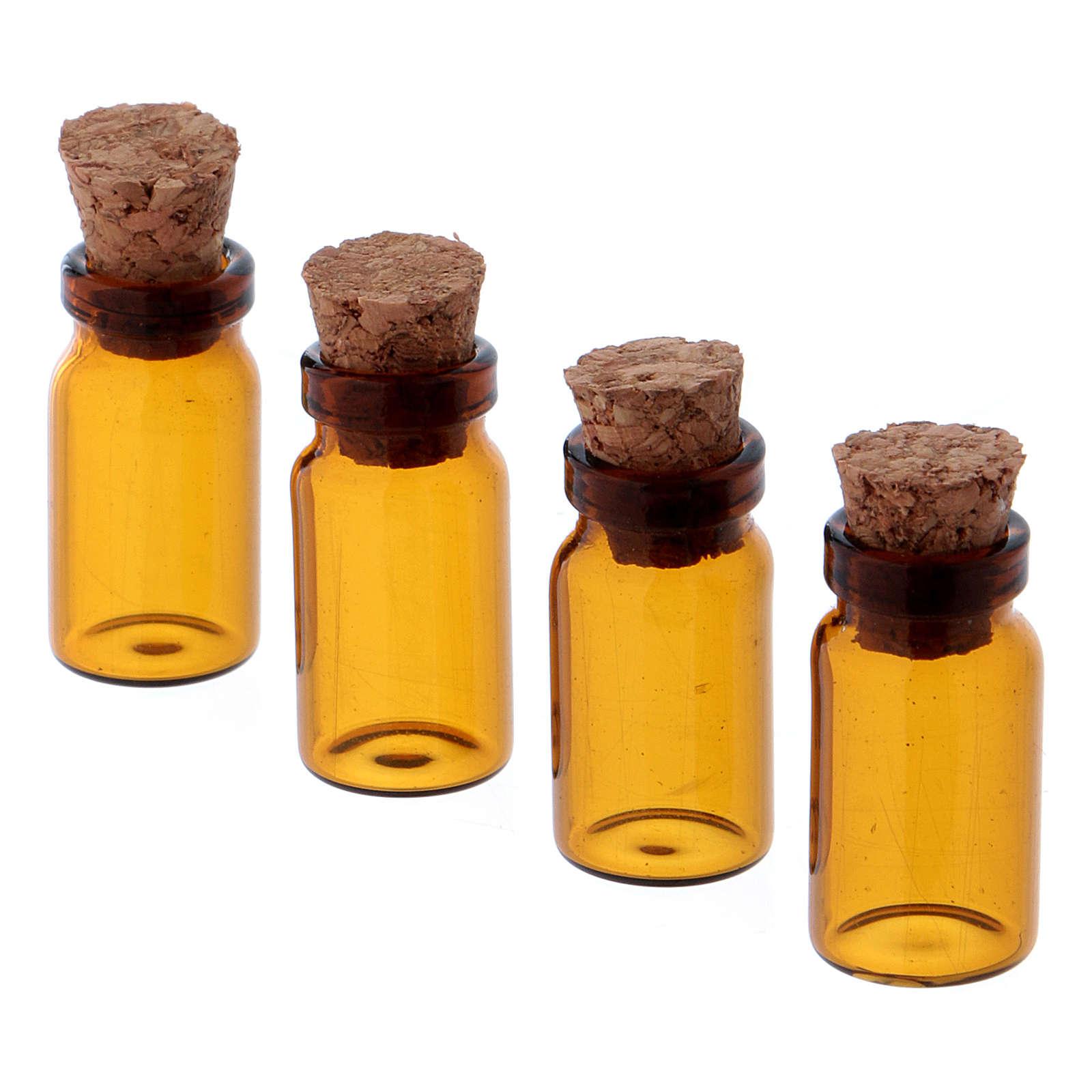 Pots en verre marron h 3 cm 4