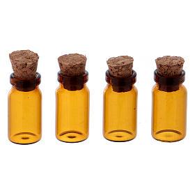 Acessórios de Casa para Presépio: Vasos em vidro castanho h 3 cm