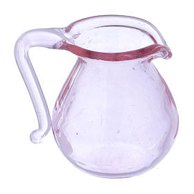 Cruche en verre h 2 cm s2