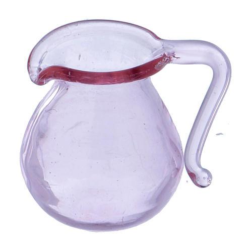 Dzbanek ze szkła h 2 cm 1