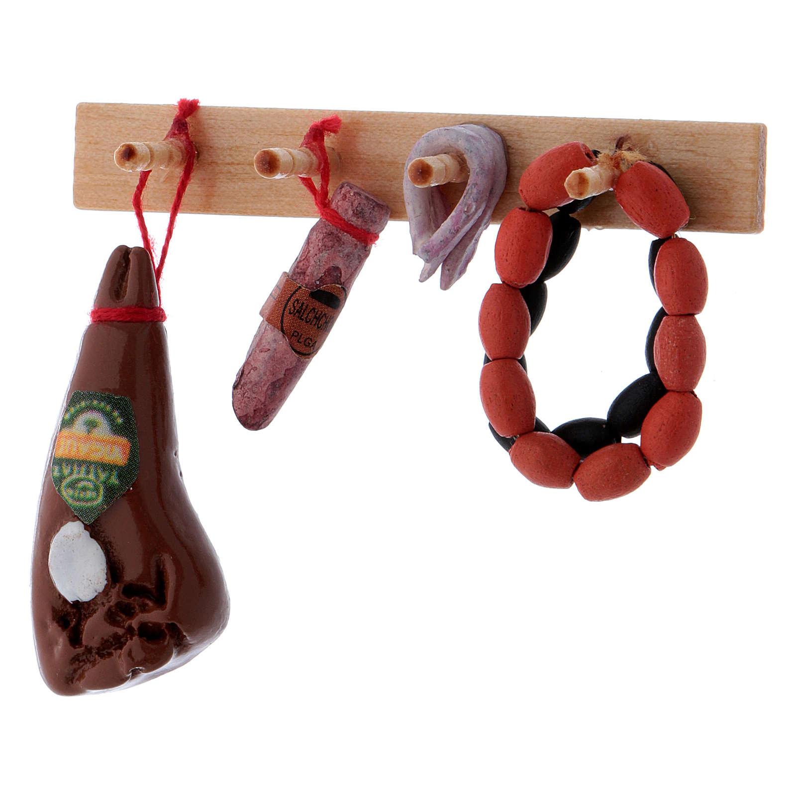 Shelf with Hanging Salami 4