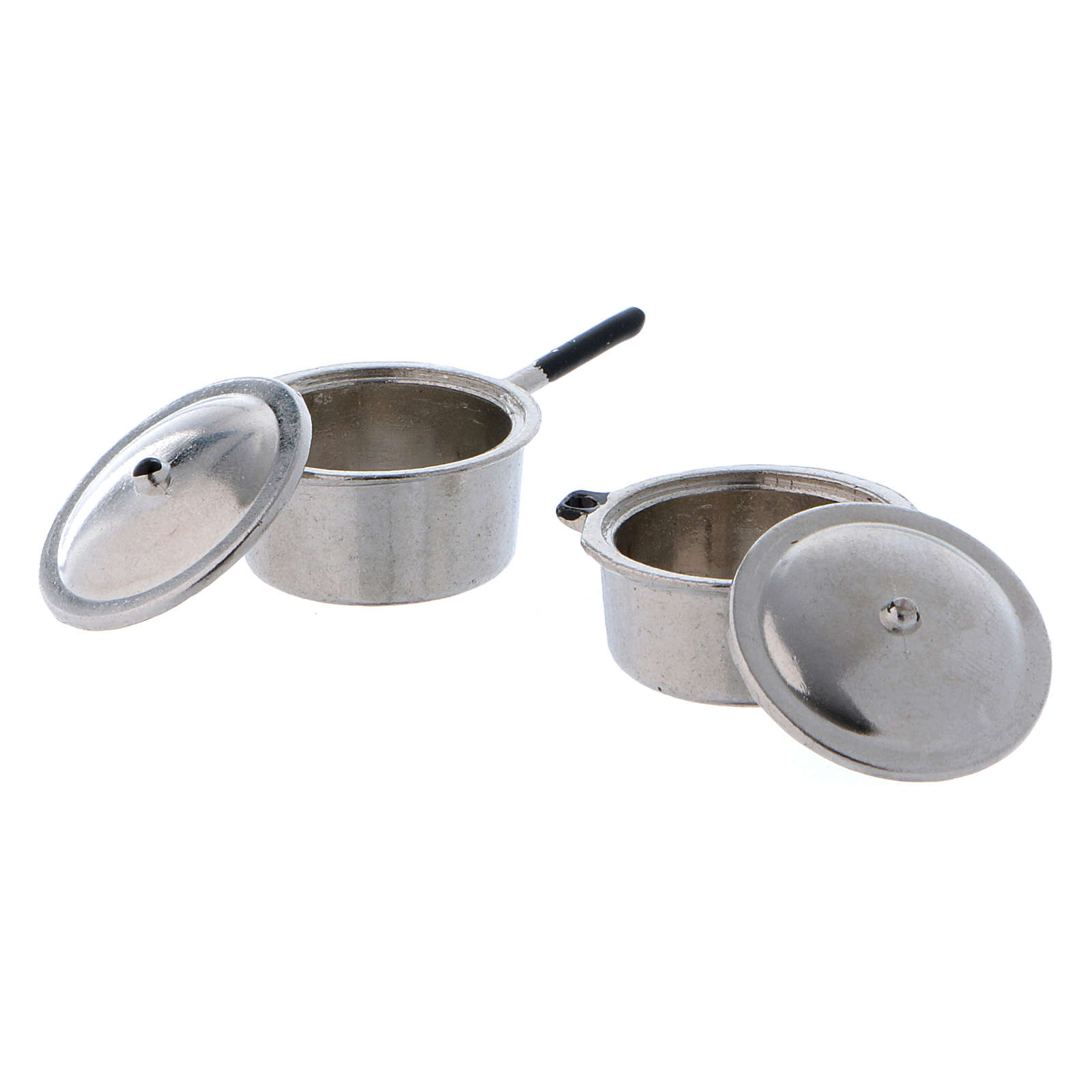 Steel Pots with Covers diameter 2 cm 4