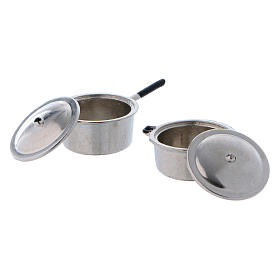 Steel Pots with Covers diameter 2 cm s2
