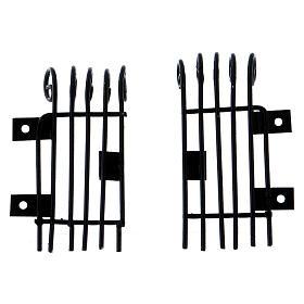 Openable rectangular window grilles height 3.7 cm length 2 cm s4