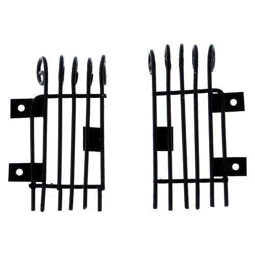 Openable rectangular window grilles height 3.7 cm length 2 cm 4