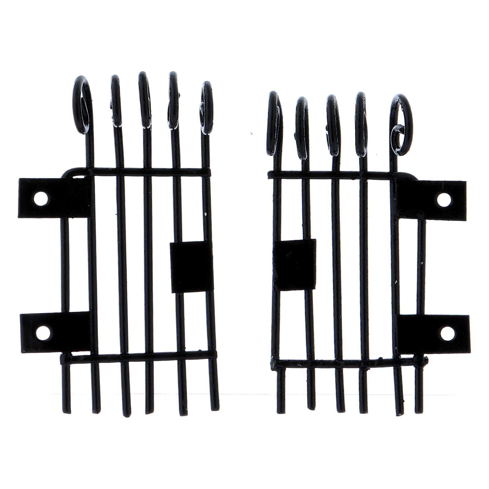 Barandillas que se pueden abrir rectangulares h 3,7 largas 2 cm 4