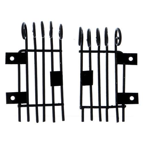 Barandillas que se pueden abrir rectangulares h 3,7 largas 2 cm 1