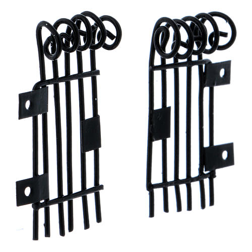 Barandillas que se pueden abrir rectangulares h 3,7 largas 2 cm 3