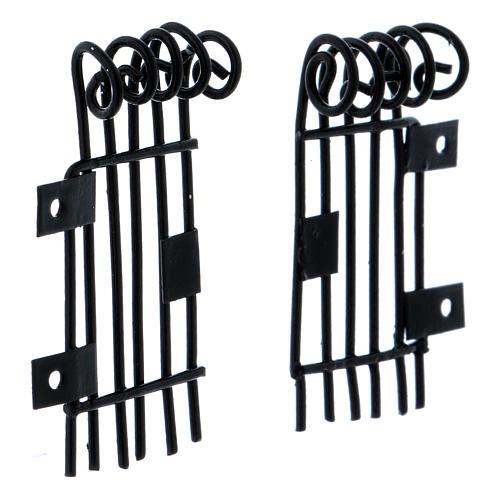 Grilles ouvrantes rectangulaires h 3,7 cm longueur 2 cm 3